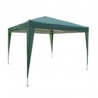 Pavilion gradina ZRG029, patrat, cadru metalic + poliester, pliabil, verde, 3 x 3 m