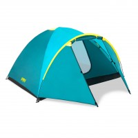 Cort camping, 4 persoane, Bestway Pavillo active ridge 68091, poliester, (210 + 100) x 240 x 130 cm