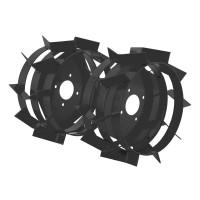 Roti metalice BK pentru motocultor / motosapa, D 35 cm (1 bucata = 1 set 2 roti)