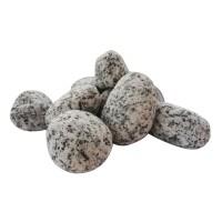 Piatra decorativa naturala rotunjita, granit, interior / exterior, gri, 20-40 mm, 20 kg