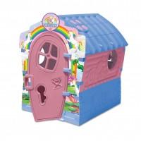 Casuta copii Unicorn, pentru gradina, din plastic, 95 x 90 x 110 cm
