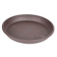 Farfurie pentru ghiveci Olivia, plastic, rotund, maro, D 18 cm