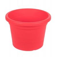 Ghiveci din plastic Olivia, rosu, D 14 cm