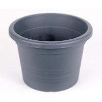 Ghiveci din plastic Olivia, antracit, D 18 cm