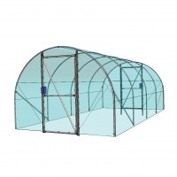 Solariu pentru gradina Hobbit 3560, structura metalica + folie triplustratificata, 3 x 6 x 2.25 m