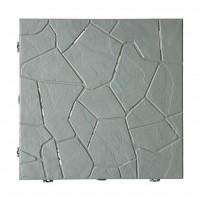 Placa podea Snaptile, PVC, exterior, gri, 380 x 380 x 25 mm