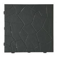 Placa podea, PVC, exterior, antracit, 380 x 380 x 25 mm