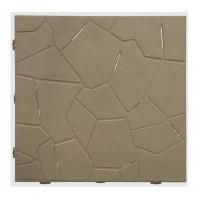 Placa podea, PVC, exterior, capucino, 380 x 380 x 25 mm