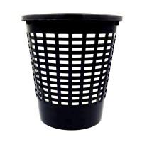Cos gunoi hartie Venetia 72054, polipropilena, forma cilindrica, negru, 10 L