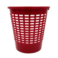 Cos gunoi birou Venetia 95004, polipropilena, forma cilindrica, rosu, 10 L