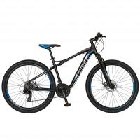 Bicicleta MTB Carpat Galaxy C2793B, 27.5 inch, cadru aluminiu, frane mecanice disc, transmisie Shimano 21 viteze, negru/ gri
