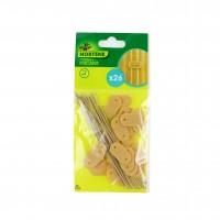 Cleme pentru fixare plase si paravane Nortene, polietilena, bambus, 26 buc