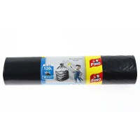 Saci menajeri Fino 5223, cu manere, pentru constructii, polietilena, negru, 120 L, 15 buc