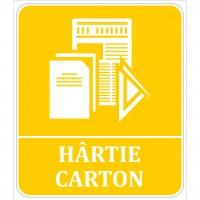 Indicator hartie carton Sun Prints, autocolant, reflectorizant, galben, forma dreptunghiulara, 17 x 19.6 cm