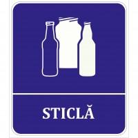 Indicator sticla Sun Prints, autocolant, reflectorizant, violet, forma dreptunghiulara, 17 x 19.6 cm