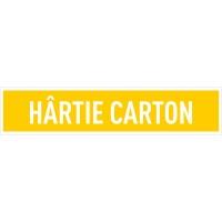 Indicator hartie carton Sun Prints, autocolant, reflectorizant, galben, forma dreptunghiulara, 25.4 x 5.4 cm