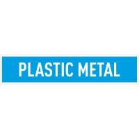 Indicator plastic metal Sun Prints, autocolant, reflectorizant, albastru, forma dreptunghiulara, 25.4 x 5.4 cm
