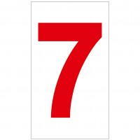 Indicator cifra 7 Sun Prints, autocolant, reflectorizant, rosu, forma dreptunghiulara, 16.5 x 9.4 cm