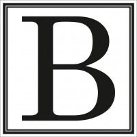 Indicator litera B Sun Prints, autocolant, reflectorizant, negru, forma patrata, 10 x 10 cm