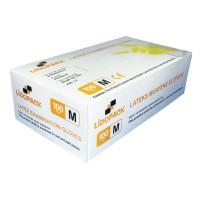 Manusi de protectie unica folosinta, latex, marimea M, set 100 buc