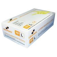 Manusi de protectie unica folosinta, latex, marimea L, set 100 buc