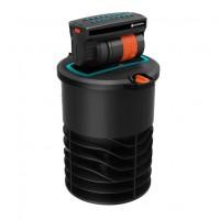 Aspersor Gardena OS 140, telescopic oscilant, cu filtru de impuritati integrat, raza reglabila, 2 - 15 m