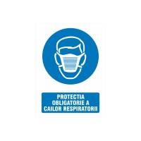 Indicator informare Protectia obligatorie a cailor respiratorii, PVC, 15 x 20 cm