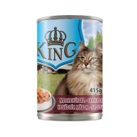 Hrana umeda pentru pisici, King Cat, adult, carne de vita, 415g