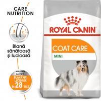 Hrana uscata pentru caini, Royal Canin, Coat Care Mini, adult, 1kg