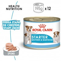 Hrana umeda pentru caini, Royal Canin, Starter Mousse, puppy, 195g