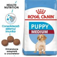 Hrana uscata caine junior Royal Canin Medium Puppy, 15 kg
