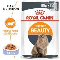 Hrana umeda pentru pisici, Royal Canin, Intense Beauty Jelly, adult, 12 x 85g