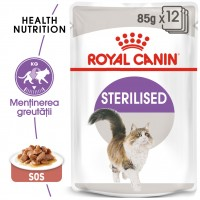 Hrana umeda pentru pisici, Royal Canin, Sterilised, 12 x 85g