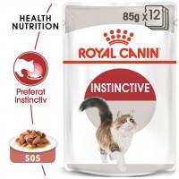 Hrana umeda pentru pisici, Royal Canin, Instinctive Gravy, adult, 12 x 85g