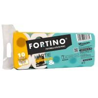 Hartie igienica Fortino, celuloza, 3 straturi, alb, 10 role