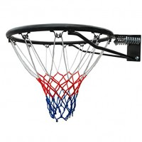 Inel pentru baschet, cu arc, metal + plasa, negru, D 45 cm