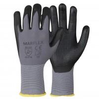 Manusi de protectie Marvel Marflex, din lycra si spuma nitril, acoperite in palma cu puncte nitril, marimea 10