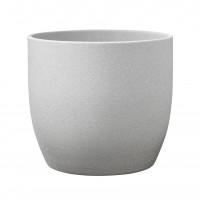Ghiveci ceramic Stone, gri, rotund, 19 x 18 cm