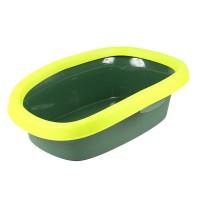 Litiera pentru pisici, Sprint, dreptunghiulara, plastic, verde, 58 x 39 x 17 cm