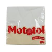 Servetele decorative de masa Mototol, celuloza, 2 straturi, alb, 40 x 40 cm, 50 buc / set