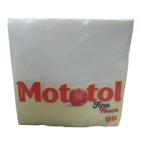 Servetele de masa Mototol Fine Touch, alb, celuloza, 2 straturi, 33 x 33 cm, 40 buc / set
