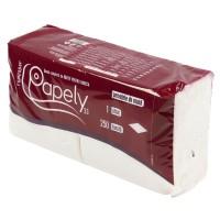 Servetele de masa Papely, celuloza, alb, 1 strat, 33 x 33 cm, 250 buc / set