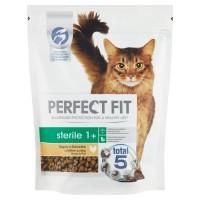 Hrana uscata pentru pisici, Perfect Fit Sterile 1+, adult, carne de pui, 750g