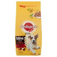 Hrana uscata pentru caini Pedigree Mini Adult, adult, carne de vita, 2kg