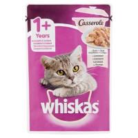Hrana umeda pentru pisici, Whiskas Casserole, adult, somon, 85g