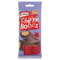 Hrana complementara pentru caini Frolic Chewy Bones, adult, carne de vita, 2 buc, 170g