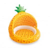 Piscina gonflabila, pentru copii, Intex Pineapple 58414NP, cu protectie solara, 102 x 94 cm