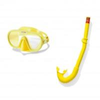 Set inot copii Adventurer Intex 55642, masca + tub respiratie, galben