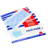 Masca de unica folosinta, 3 straturi, polipropilena netesuta, albastra