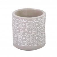 Ghiveci ceramic RT-6871-PA, gri, rotund, 19 x 21 cm